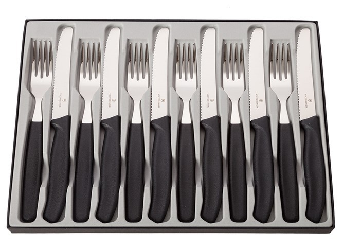 Victorinox 12pc Steak Knife & Fork Set
